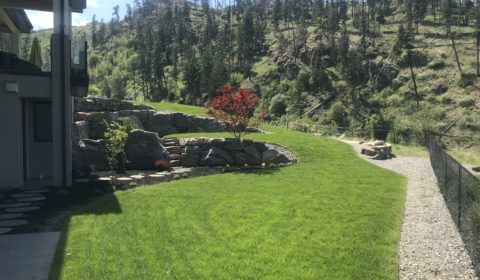 landscaped yard in Kelowna