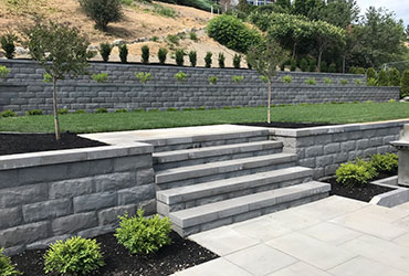 paver steps and patio